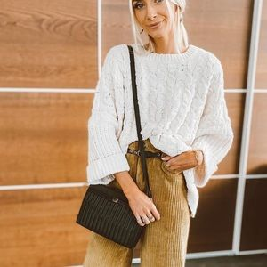 shop stevie beige fisherman knit sweater